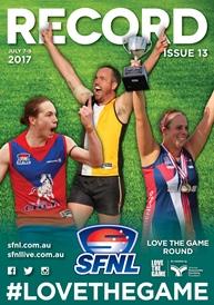 SFNL 2017 Rd 13 Cover