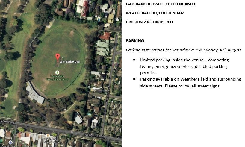 Jack Barker Oval Parking