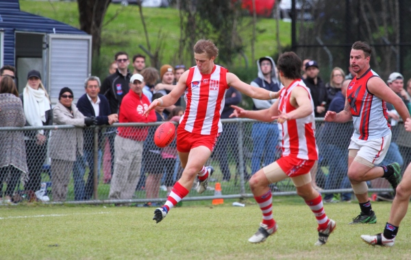 The classy James Morris booted seven goals in the Bloods' 2014 Div 2 premiership win.