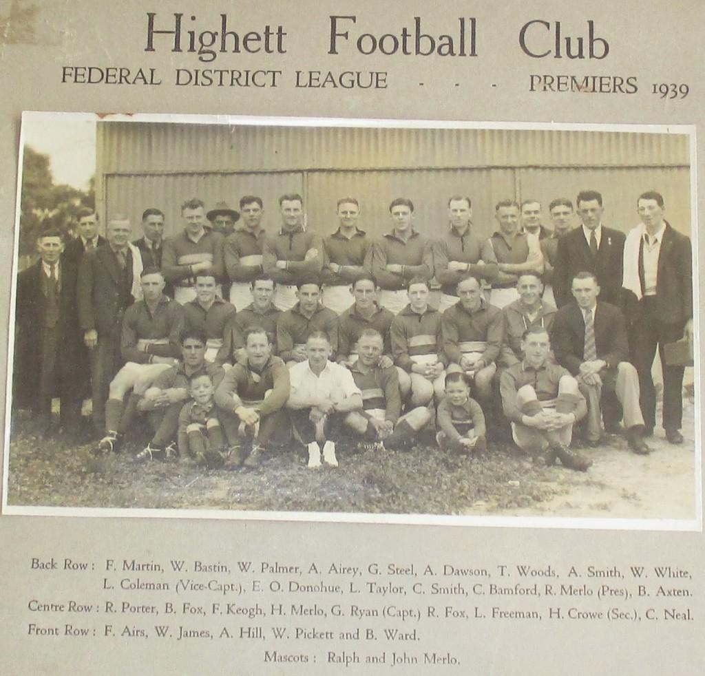 Highett FC - 1939