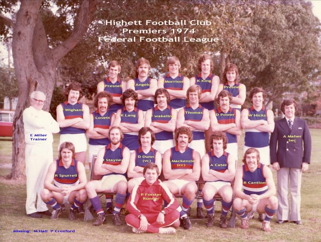 PRFEMIERS NAMES 1974