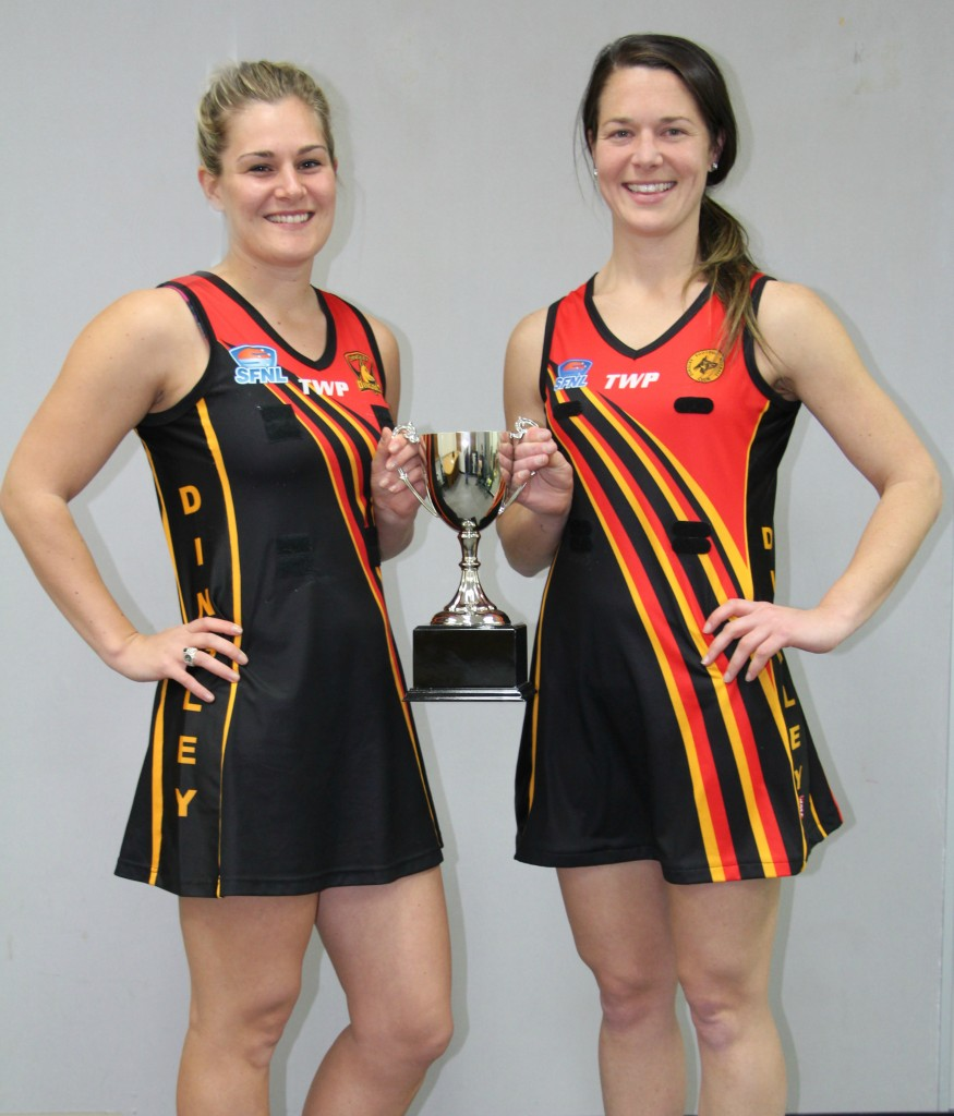 Dingley duo Sara Merkus and Alicia Wise (captain).