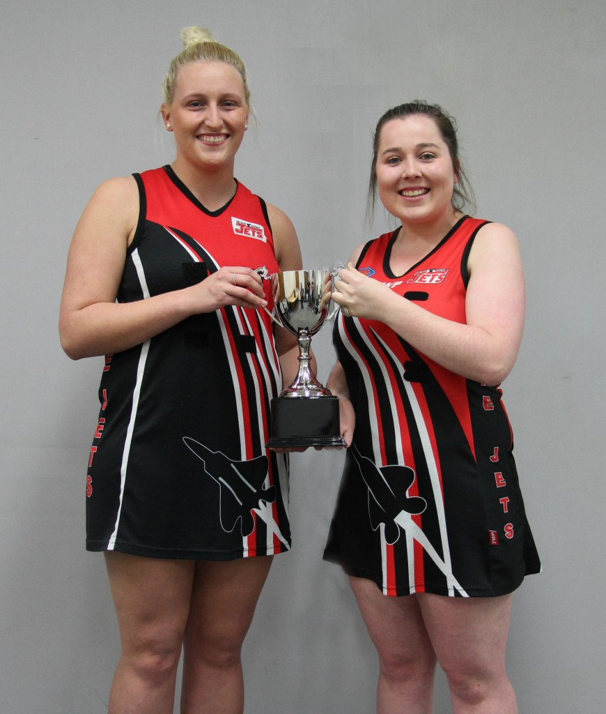 Black Rock co-captains Bec Goodear and Bek Neal