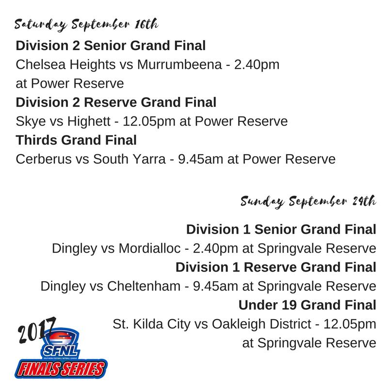 Grand finals September 23rd & 24th matches