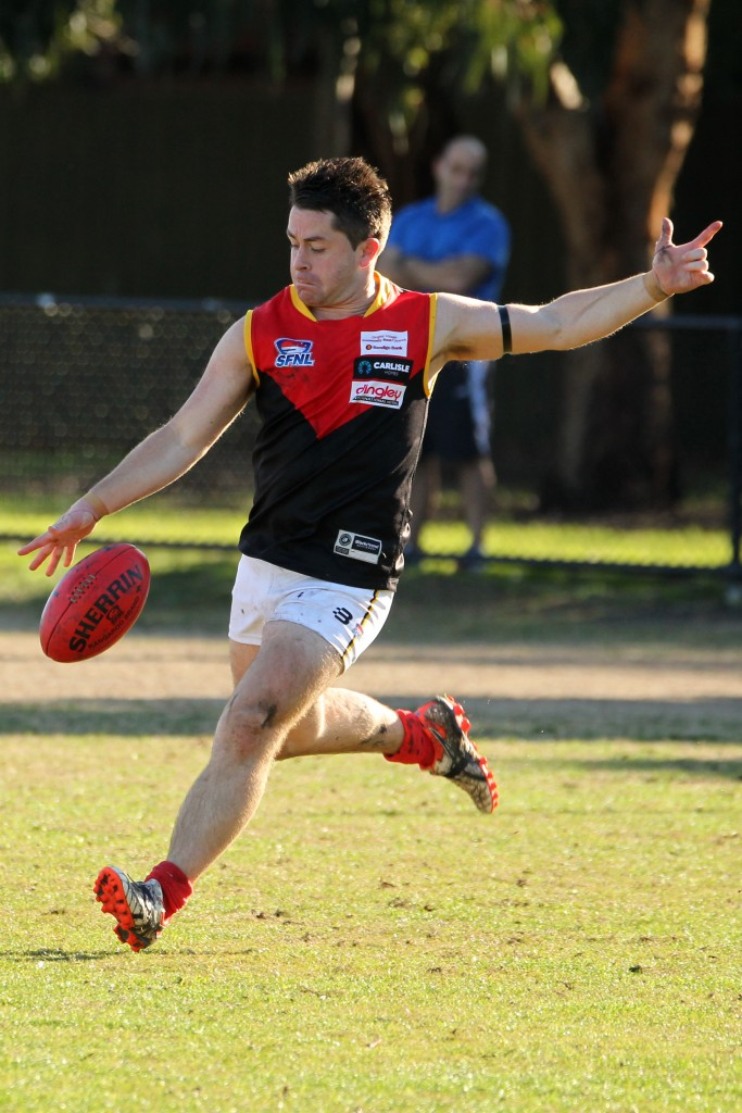 Dingley skipper Tony Lavars is one of the SFNL's most inspirational leaders.