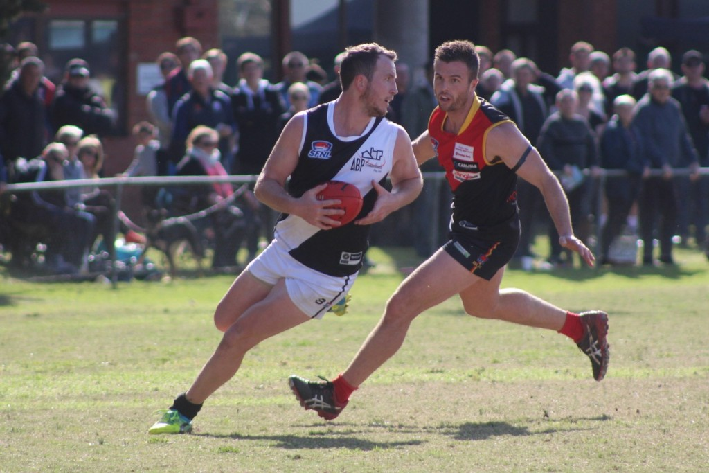 Oakleigh District defender Pat Carroll was best on ground in the SFNL's Interleague victory.
