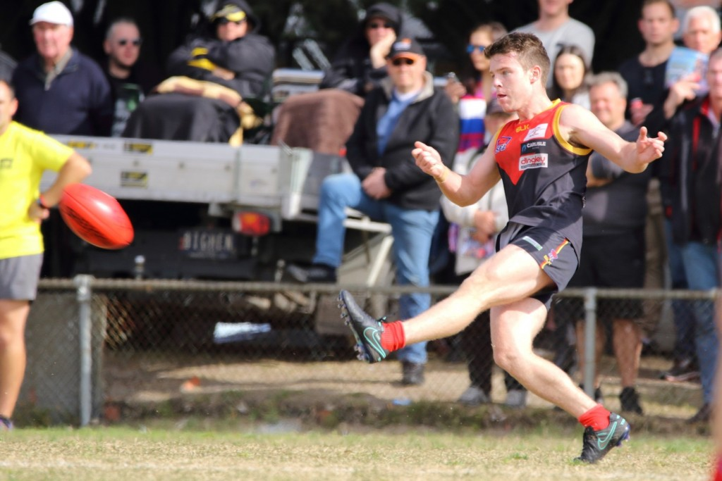 Chris Horton-Milne won the Meneilly Medal as best on ground in Dingley's Grand Final victory.