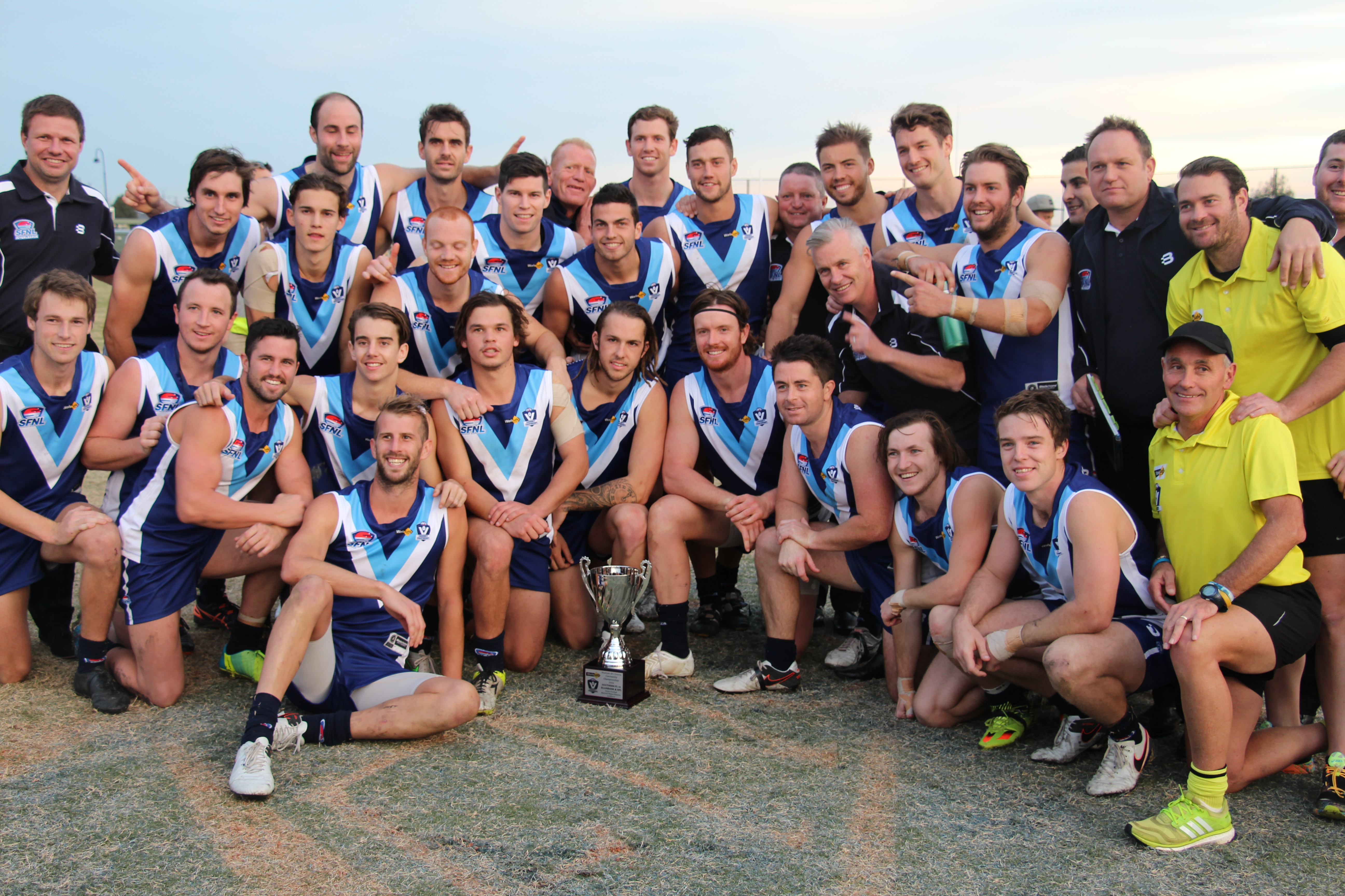 Our boys claimed a long-overdue piece of representative silverware after a terrific win over Ellinbank in May.