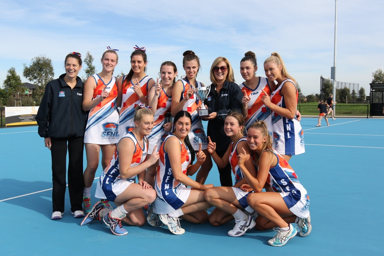 Our Under 19 girls brought home the SFNL's first Netball Interleague trophy