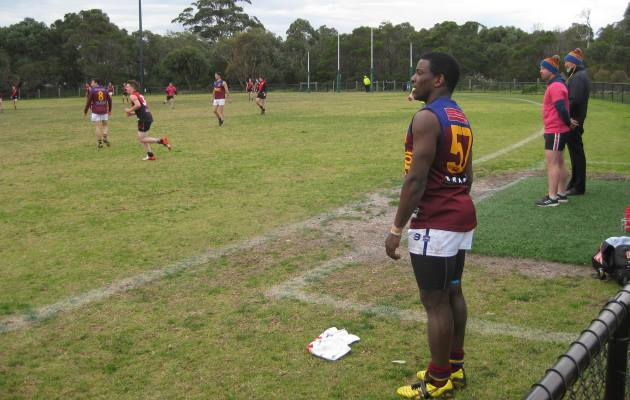 Mwaba waits to come back on for the Yarras.