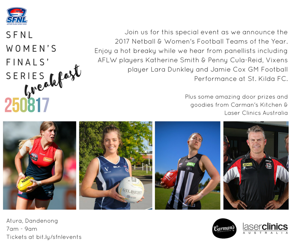 Women's Finals' Series Breakfast Facebook Ad