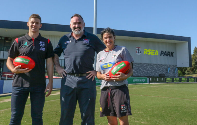 (From L-R) Nick Dal Santo, Lee Hartman and Peta Searle